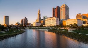 Photo of the Columbus Ohio, during a sunset