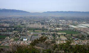 Photo overlooking the city of Fontana California