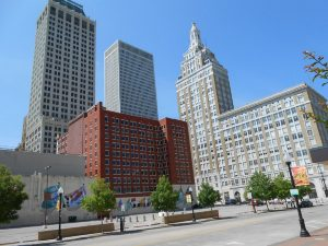 Photo of the downtown city scape of Tulsa Oklahoma